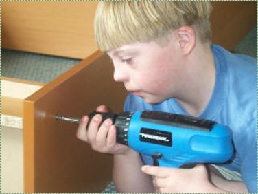 photo of a boy with trisomie 21